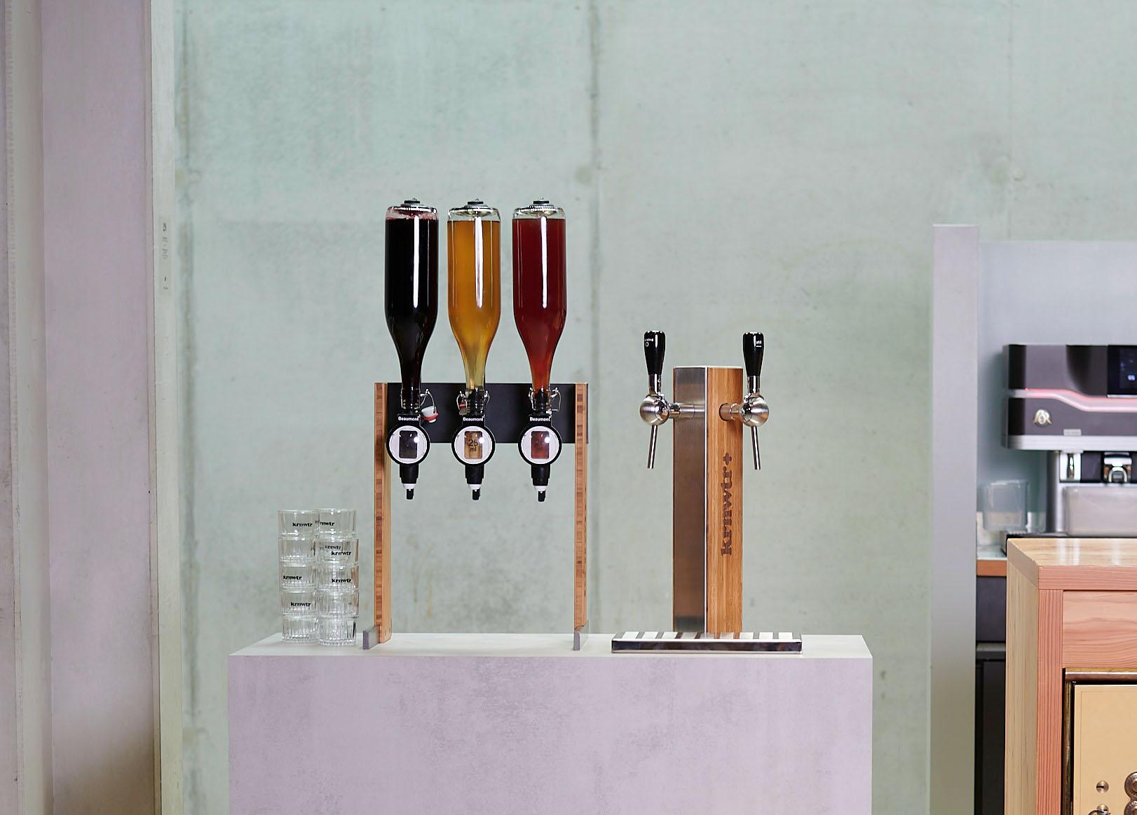 leidingwaterkoeler tapzuil-bamboe-staal