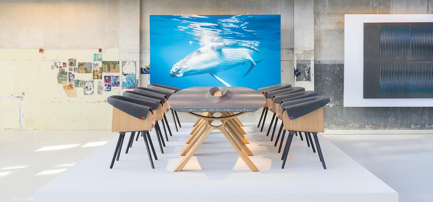 Duurzame meubelen van PET Flessen Amsterdam