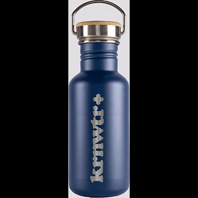 RVS-fles-blauw