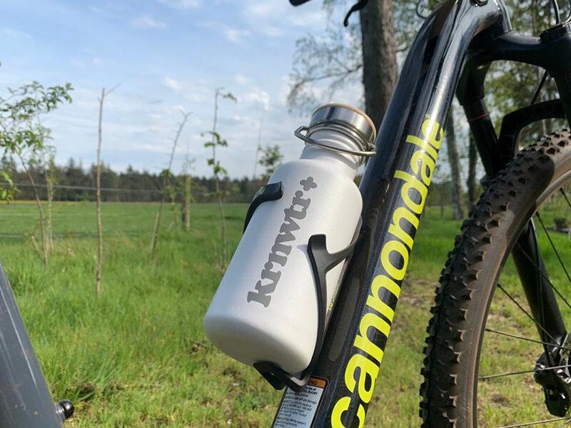 RVS-fles_onderweg